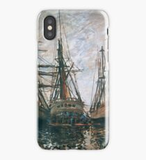 Claude Monet - Boats On Rapair, 1873 iPhone Case/Skin