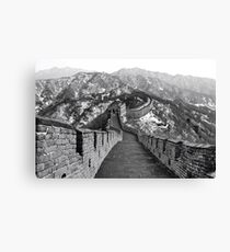 Snow on The Great Wall of China Canvas Print