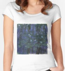 Claude Monet - Blue Water Lilies (1916 - 1919) Women's Fitted Scoop T-Shirt