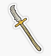cartoon medieval spear Sticker