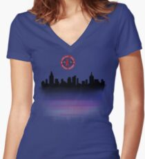 2016 chicago cubs world series winners Women's Fitted V-Neck T-Shirt