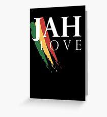 Jah Love ( WHITE ) Greeting Card