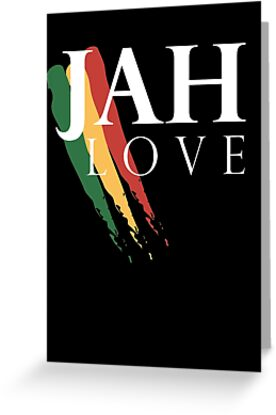 Jah love white greeting cards by indayahlove redbubble jah love white by indayahlove m4hsunfo