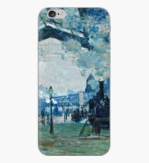 Claude Monet - Arrival Of The Normandy Train, Gare Saint Lazare (1877) iPhone Case