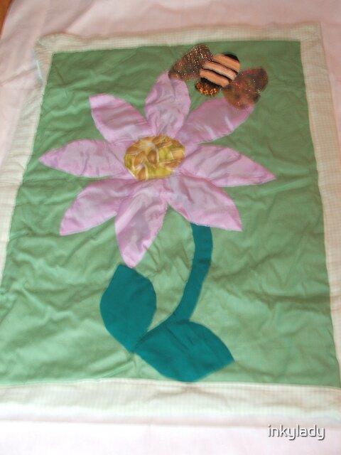 lilac daisy & bee  by inkylady