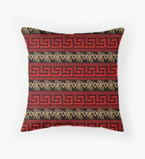 Pattern - Versace-Majestic-World-red-beige-camel-by MAMARTIN Throw Pillow
