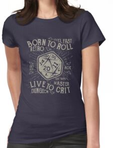 Born To Roll Womens Fitted T-Shirt
