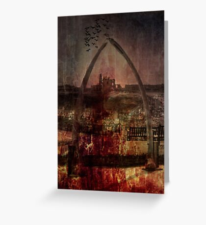Whitby Abbey (Through the whale bone arch) Greeting Card