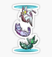 Fighting Dreamers- Thinking With Portals Sticker