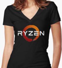 ryzen Women's Fitted V-Neck T-Shirt