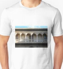 Spanish building with arches and columns  T-Shirt