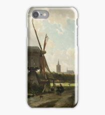 Cornelis Springer - View Of The Hague From The Delftse Vaart In The Seventeenth Century iPhone Case/Skin