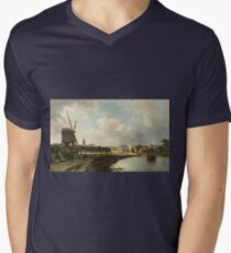 Cornelis Springer - View Of The Hague From The Delftse Vaart In The Seventeenth Century T-Shirt