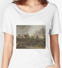 Cornelis Saftleven - Landscape With Animals, 1652 Women's Relaxed Fit T-Shirt