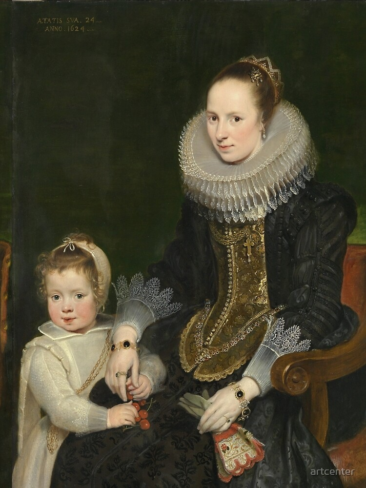 Cornelis De Vos - Mother And Child1624 by artcenter