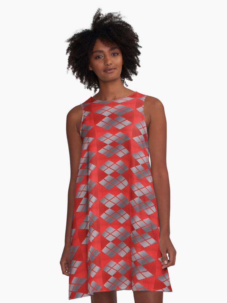 geometry A-Line Dress Front