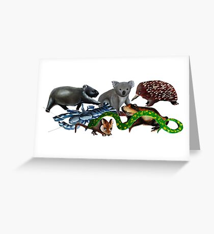 Australian animals collage Greeting Card