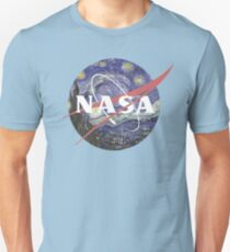 NASA Logo Starry Night T-Shirt