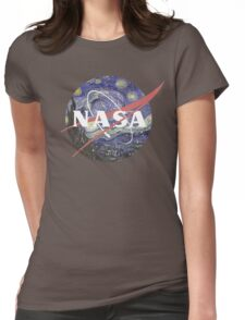 NASA Logo Starry Night Womens Fitted T-Shirt