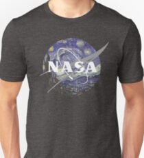 Starry Night Nasa Logo Unisex T-Shirt