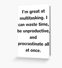 Multitasking Funny Joke Greeting Card