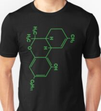 Cannabis Molecule Weed bong Smoke Cheech retro Chong THC T-Shirt