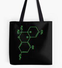 Cannabis Molecule Weed bong Smoke Cheech retro Chong THC Tote Bag