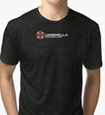 Umbrella Corporation, Black, Resident Evil Tri-blend T-Shirt