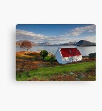 The famous Red Roof cottage at Upper Loch Torridon Scotland  Canvas Print