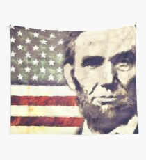 Patriot President Abraham Lincoln Wall Tapestry