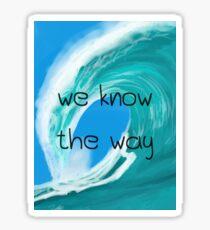 """""""Wir kennen den Weg"""" (Rechteck) Sticker"""