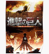 Shingeki no Kyojin [Poster HD Logo] Poster