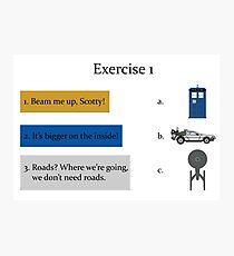 Exercise 1 Photographic Print
