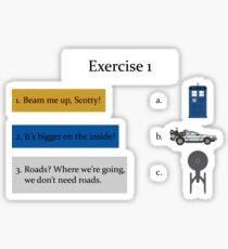 Exercise 1 Sticker