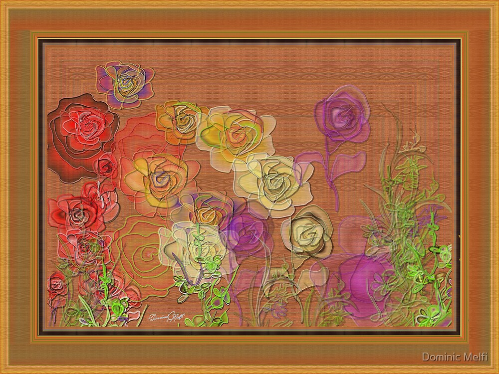 Rose on wood panel by Dominic Melfi