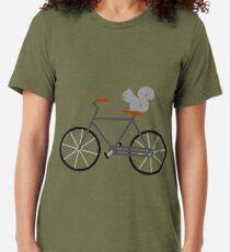 Squirrel Riding Bike Tri-blend T-Shirt