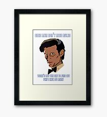 11th Doctor. Good Men Don't Need Rules. Framed Print