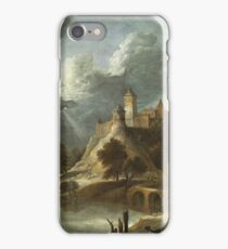 David Teniers The Younger - Landscape With A Castle And Landowners Promenading ca. 1650–1655 iPhone Case/Skin
