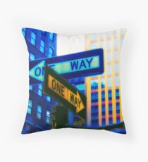 One way ? or One way ? Throw Pillow