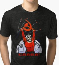 Glory to the Soviet People - The Pioneers of Space Tri-blend T-Shirt