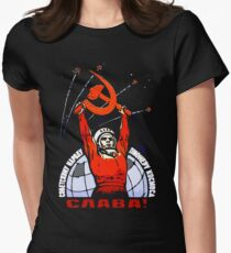 Glory to the Soviet People - The Pioneers of Space Women's Fitted T-Shirt