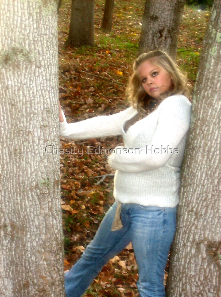 Jana next to tree by Chasity Edmonson-Hobbs