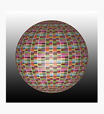 Colorful 3D Ball Photographic Print