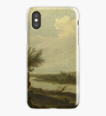 David Teniers The Younger - A Cottage By A River With A Distant View Of A Castle iPhone Case/Skin