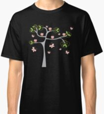 Whimsical Pink Cupcakes Tree Classic T-Shirt