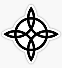 Witch`s Knot, Power Of 4 Elements, Magic, Mystic, Witchcraft, Wicca Sticker