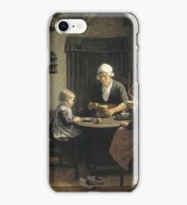 David Adolph Constant Artz - At Grandmothers, 1883 iPhone Case/Skin
