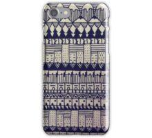 TOWN 01- BLACK&WHITE iPhone Case/Skin