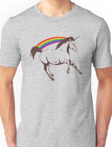 Unicorn with rainbow Unisex T-Shirt
