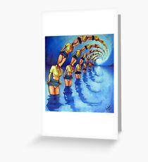 Bathers Singularity Greeting Card